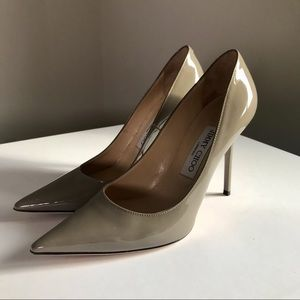 Jimmy Choo Abel pump heels paten leather size 36